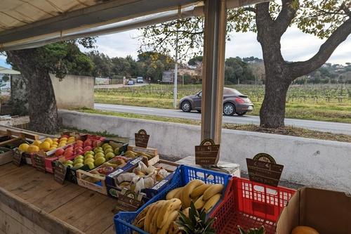 Magnifique panier de fruits aux Primeurs Cyclades de Gassin - https://gassin.eu
