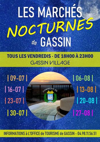 Les marchés nocturnes de Gassin