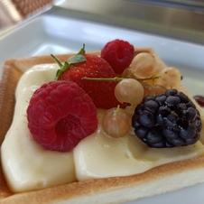 Tartelette citron La Ciboulette - restaurant avec vue panoramique à Gassin - https://gassin.eu